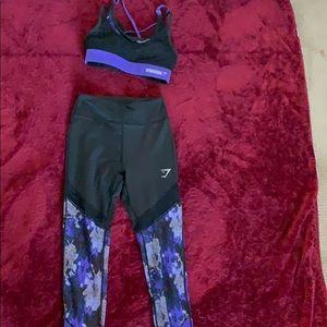 A sports bra and leggings set